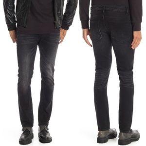 New! Vigoss Mick Slim 330 Black Haze Jeans 34x32